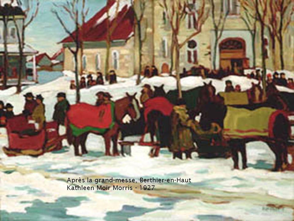 Paysage d'hiver avec un cheval tirant un traîneau
