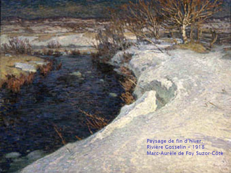Matinée d'hiver, Baie St-Paul