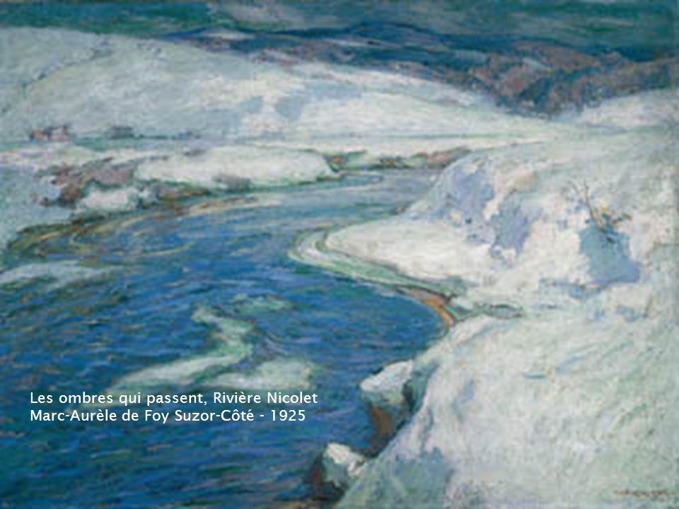 Paysage de fin d'hiver, Rivière Gosselin – 1918 Marc-Aurèle de Foy Suzor-Côté