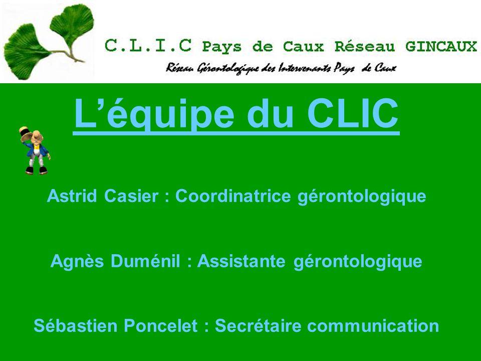 L'équipe du CLIC Astrid Casier : Coordinatrice gérontologique