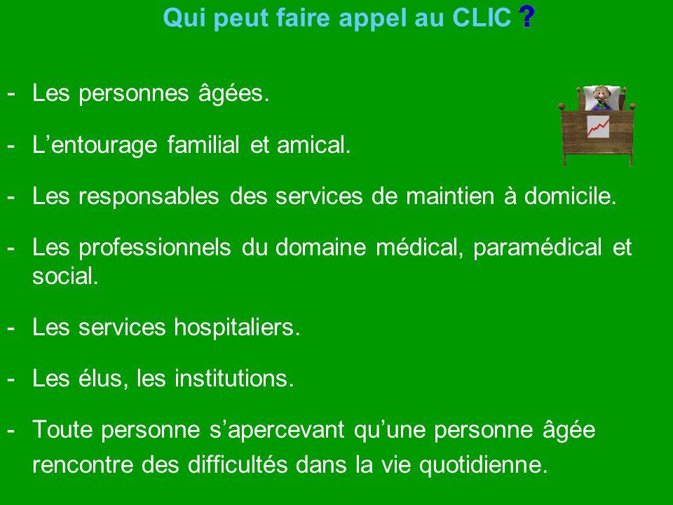 Qui peut faire appel au CLIC
