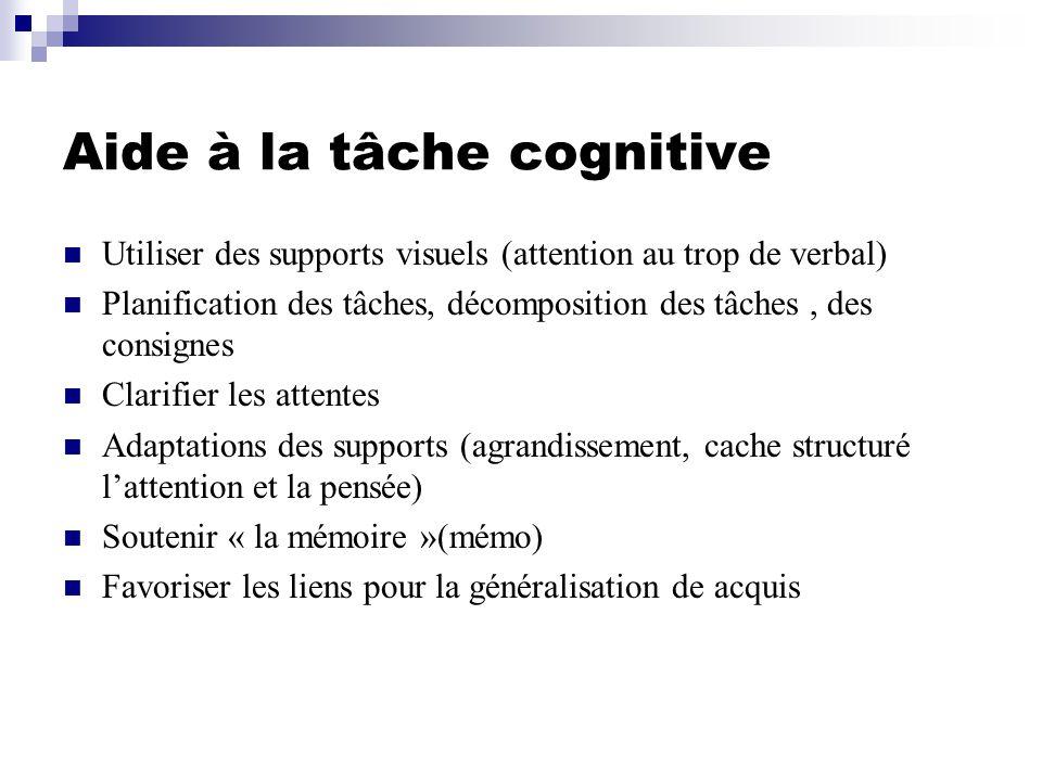 Aide à la tâche cognitive