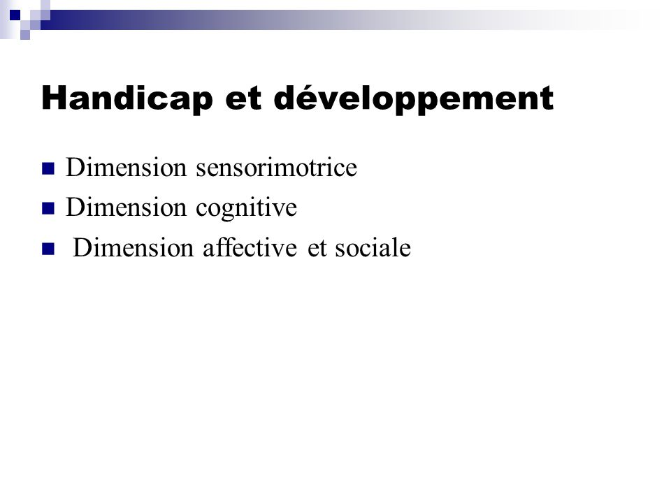 Handicap et développement