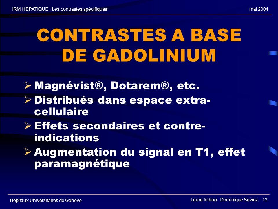 CONTRASTES A BASE DE GADOLINIUM