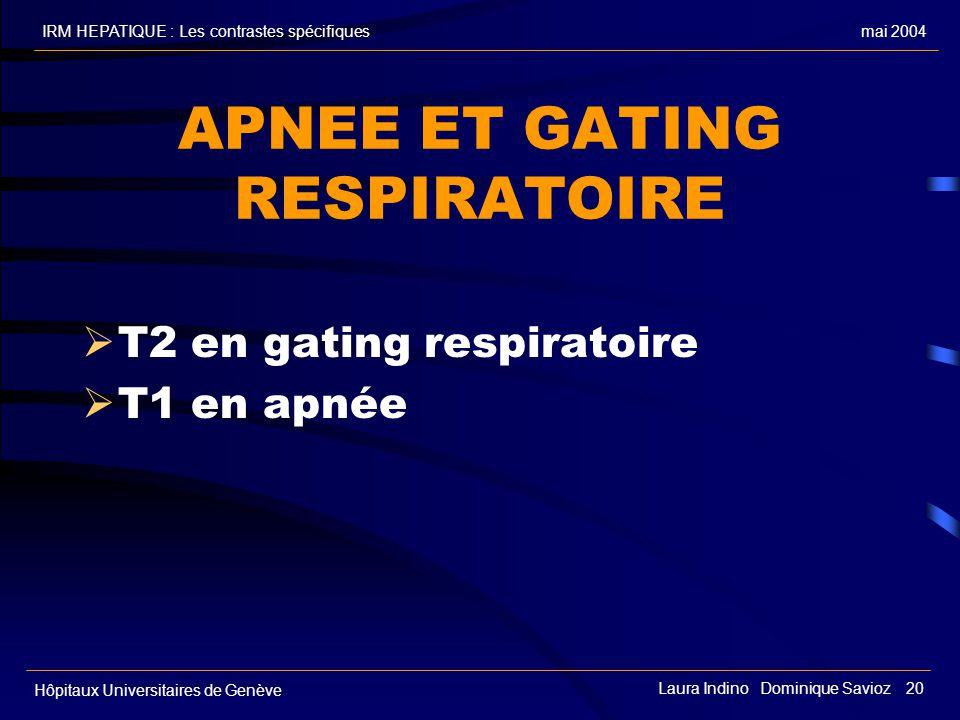 APNEE ET GATING RESPIRATOIRE