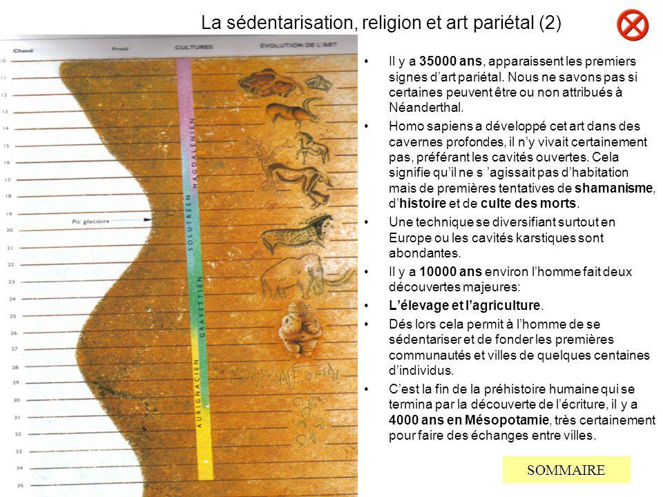 La sédentarisation, religion et art pariétal (2)