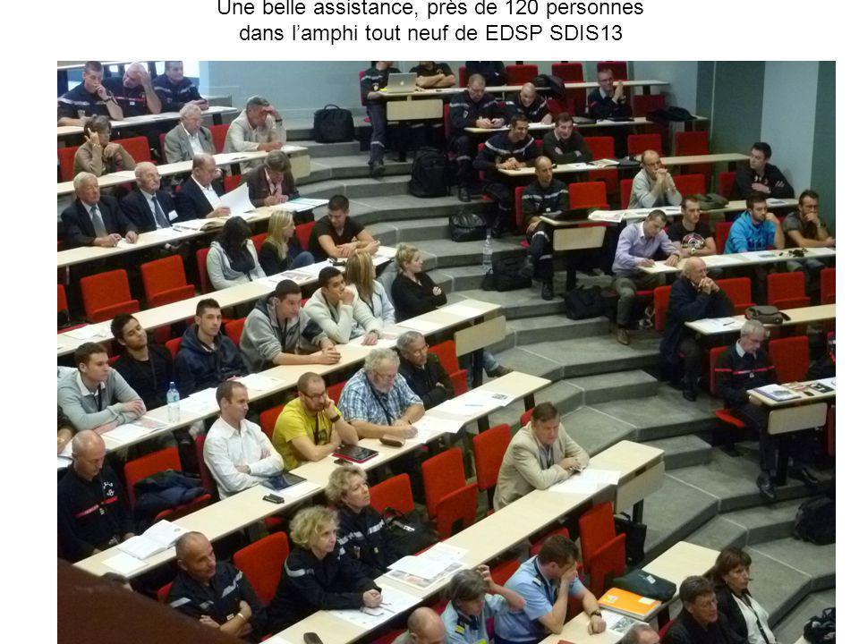 Une belle assistance, près de 120 personnes dans l'amphi tout neuf de EDSP SDIS13