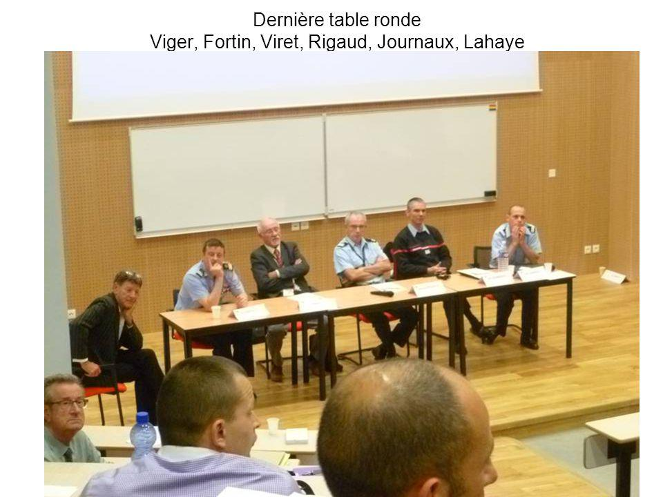 Dernière table ronde Viger, Fortin, Viret, Rigaud, Journaux, Lahaye