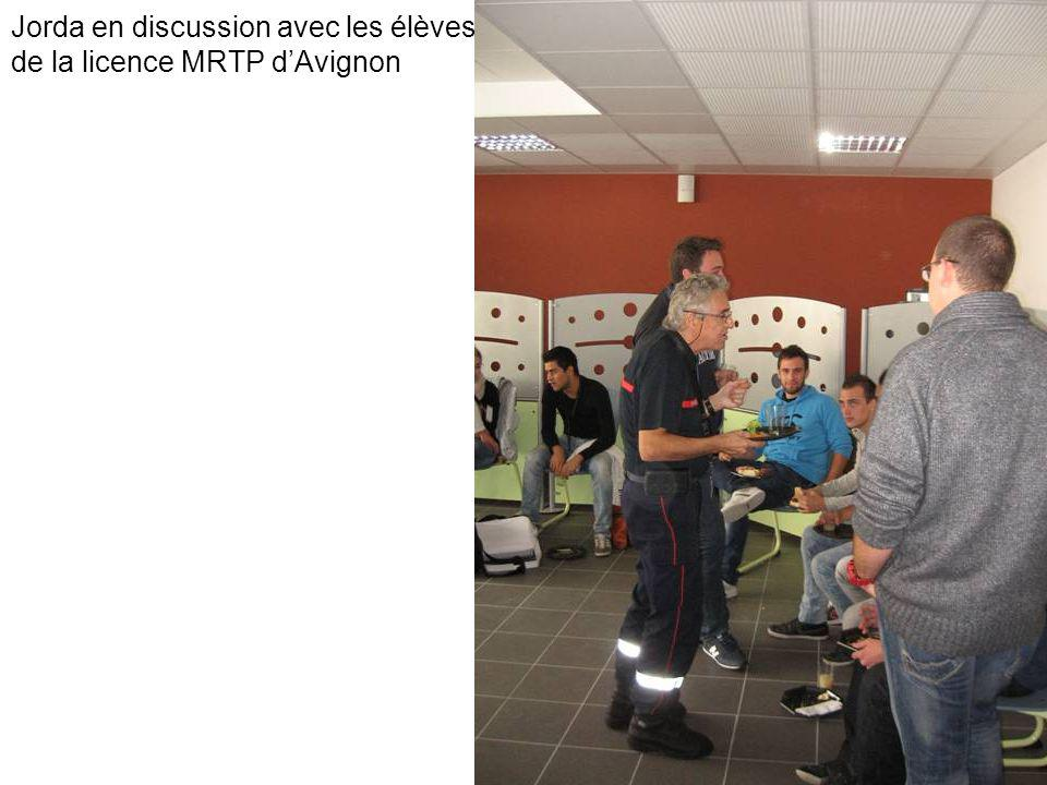 Jorda en discussion avec les élèves de la licence MRTP d'Avignon