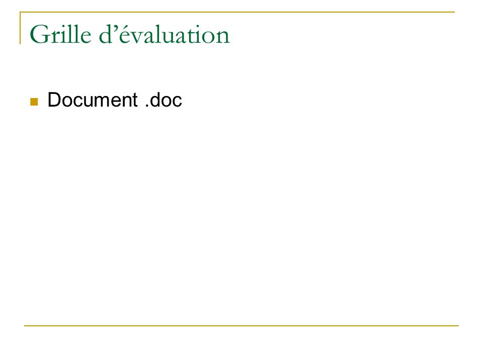 Grille d'évaluation Document .doc