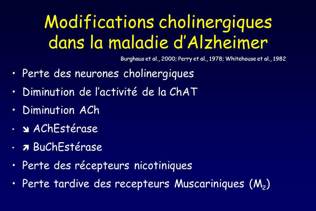 Modifications cholinergiques dans la maladie d'Alzheimer