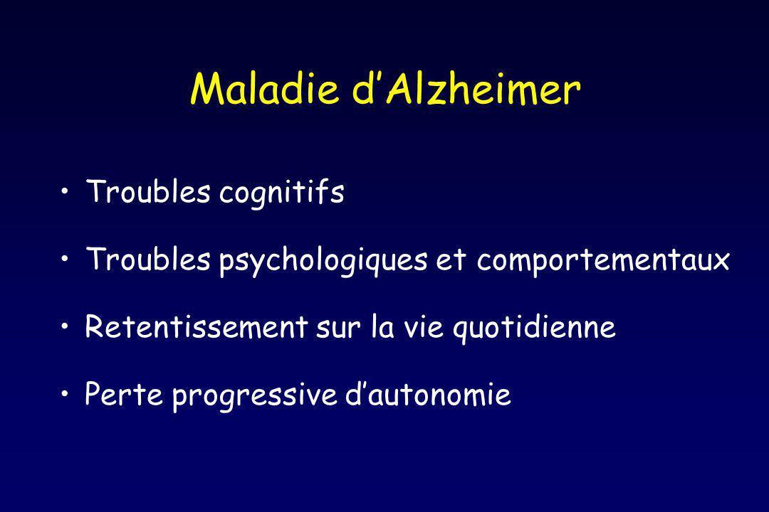 Maladie d'Alzheimer Troubles cognitifs