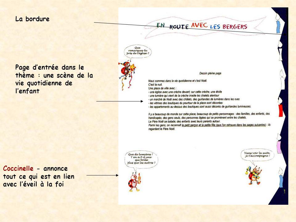 La bordure Page d'entrée dans le thème : une scène de la vie quotidienne de l'enfant.