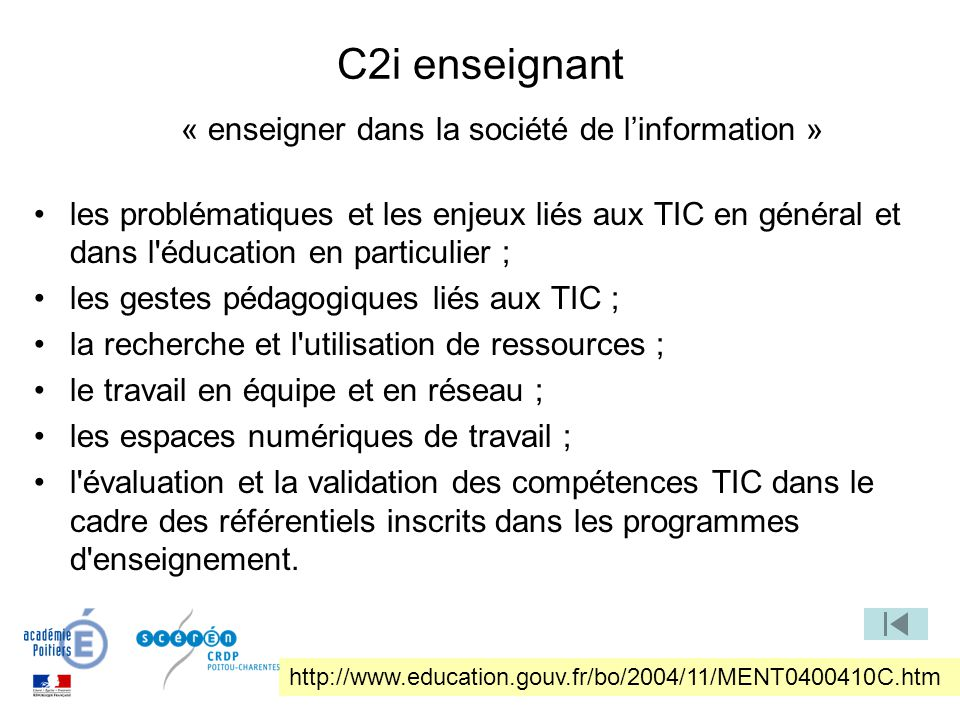 « enseigner dans la société de l'information »