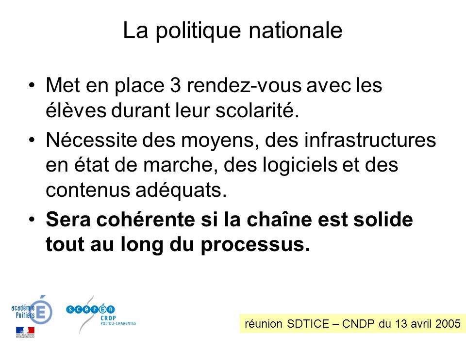 La politique nationale
