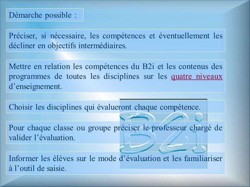 Démarche possible : Préciser, si nécessaire, les compétences et éventuellement les décliner en objectifs intermédiaires.