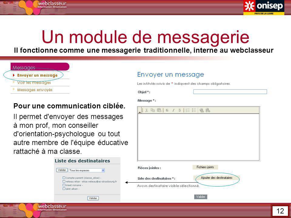 Un module de messagerie