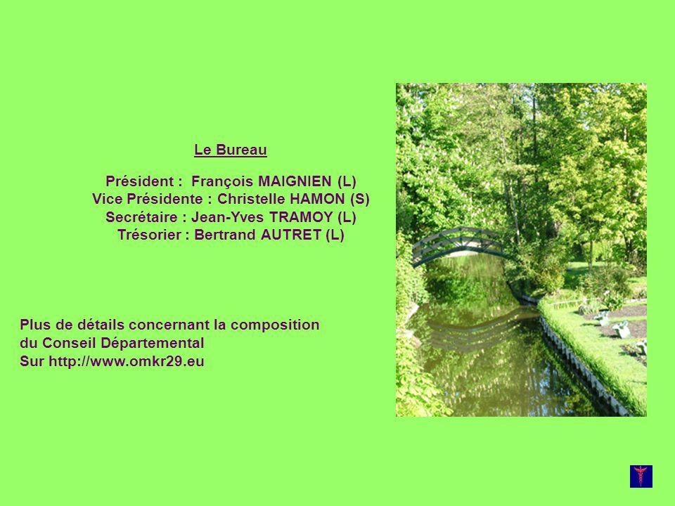 Secrétaire : Jean-Yves TRAMOY (L) Trésorier : Bertrand AUTRET (L)