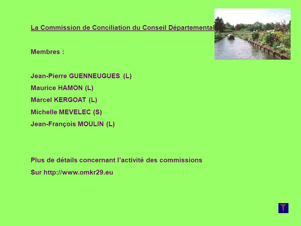 La Commission de Conciliation du Conseil Départemental: