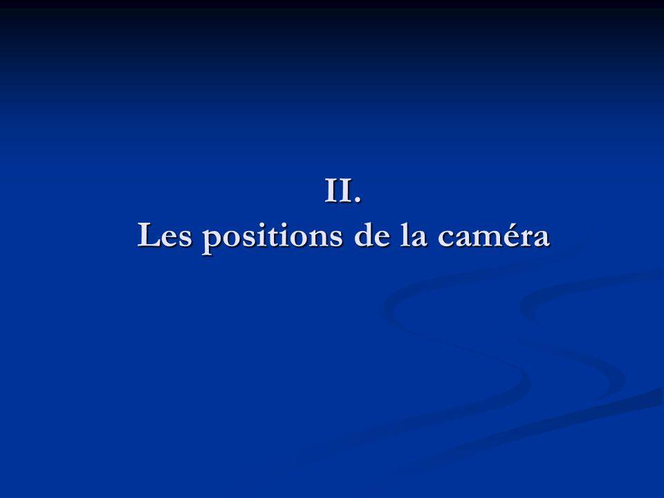 II. Les positions de la caméra