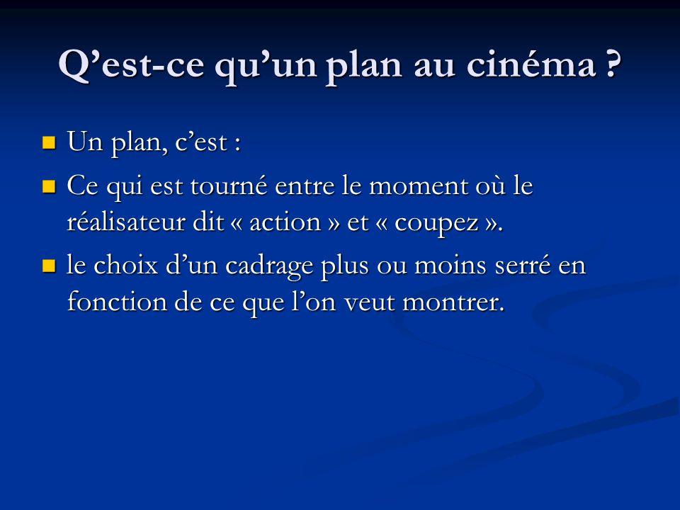 Q'est-ce qu'un plan au cinéma