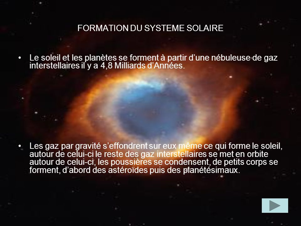 FORMATION DU SYSTEME SOLAIRE