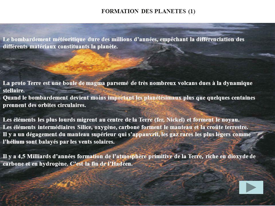 FORMATION DES PLANETES (1)