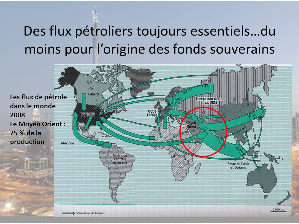 Des flux pétroliers toujours essentiels…du moins pour l'origine des fonds souverains