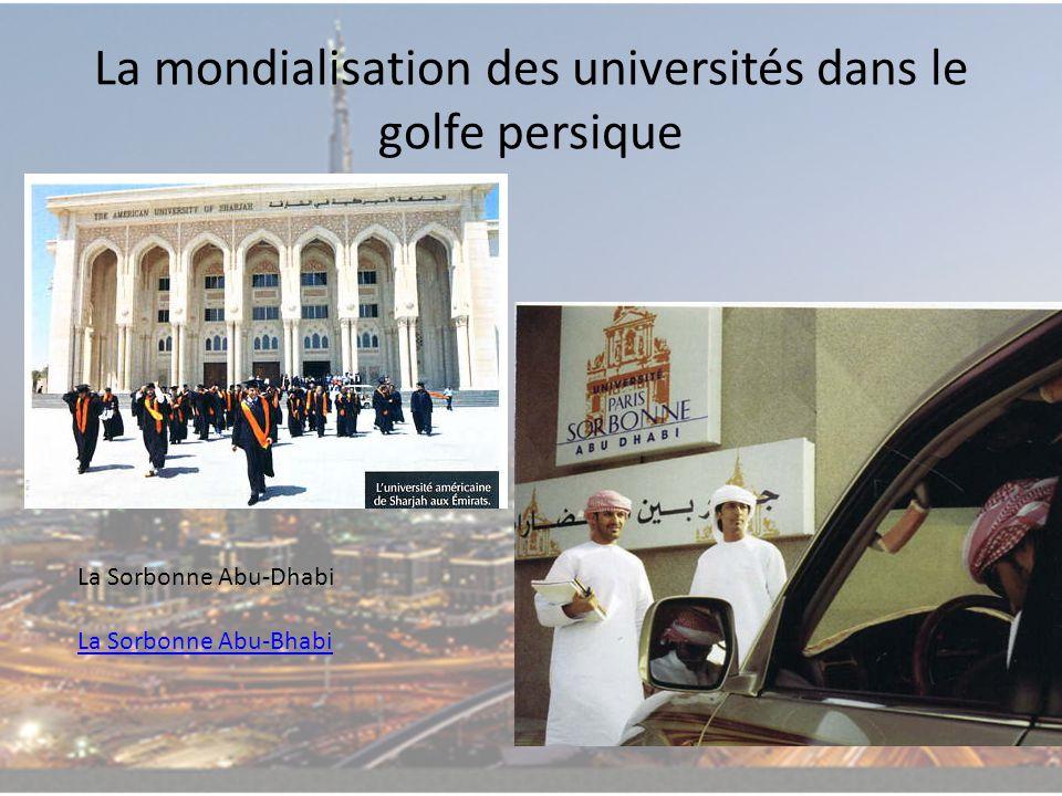 La mondialisation des universités dans le golfe persique