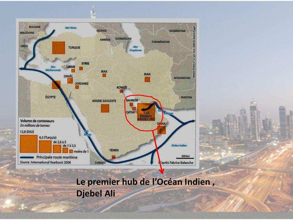 Le premier hub de l'Océan Indien , Djebel Ali