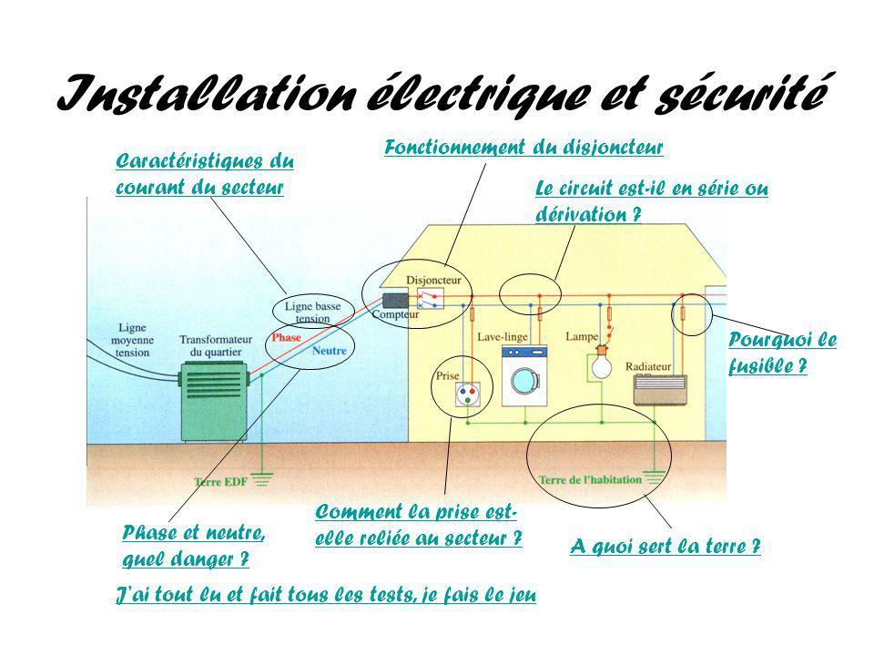 Installation électrique et sécurité