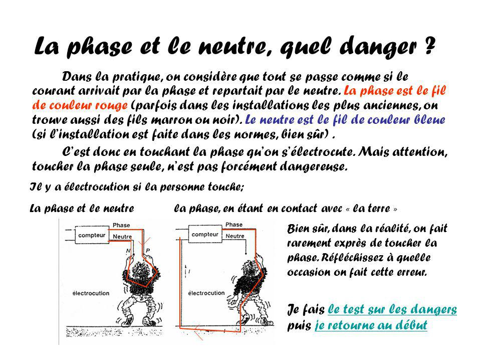 La phase et le neutre, quel danger