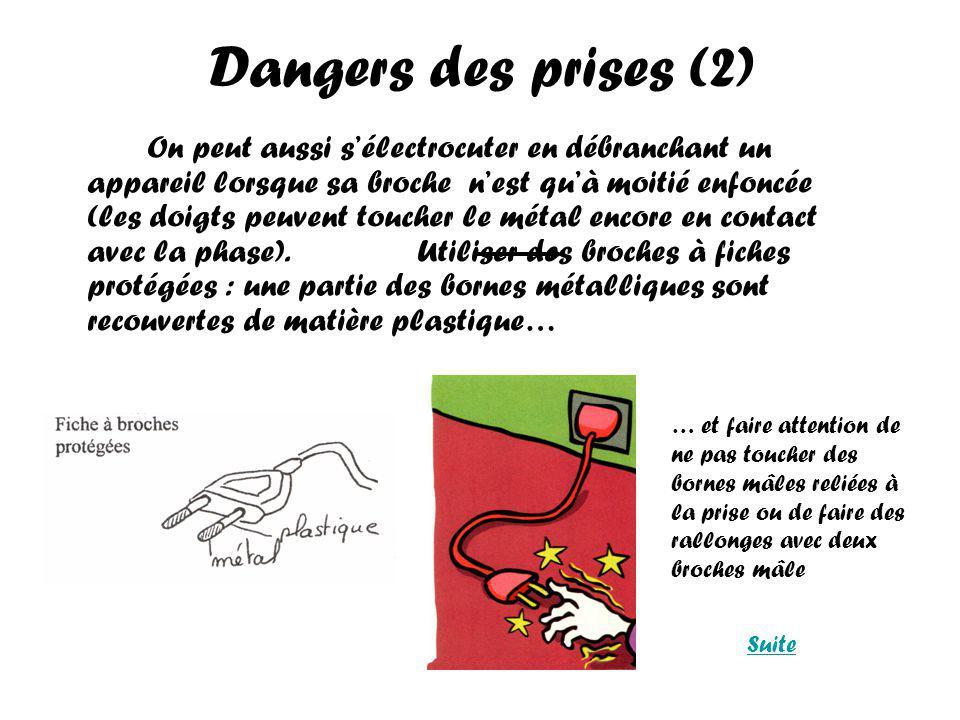 Dangers des prises (2)