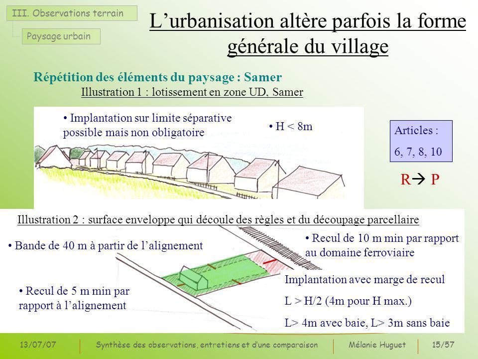 L'urbanisation altère parfois la forme générale du village