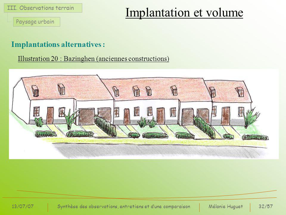 Implantation et volume