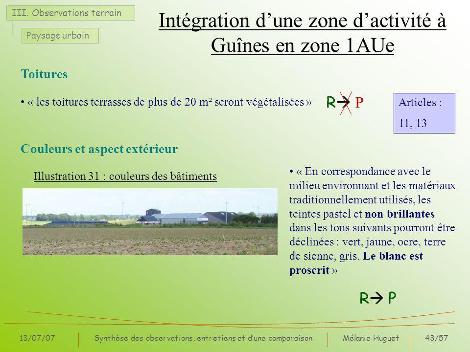 Intégration d'une zone d'activité à Guînes en zone 1AUe