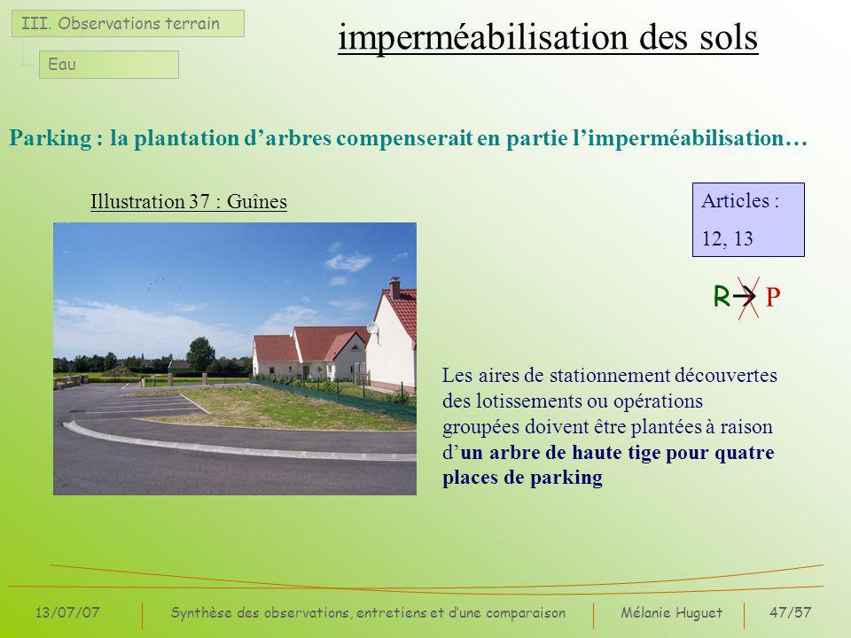imperméabilisation des sols