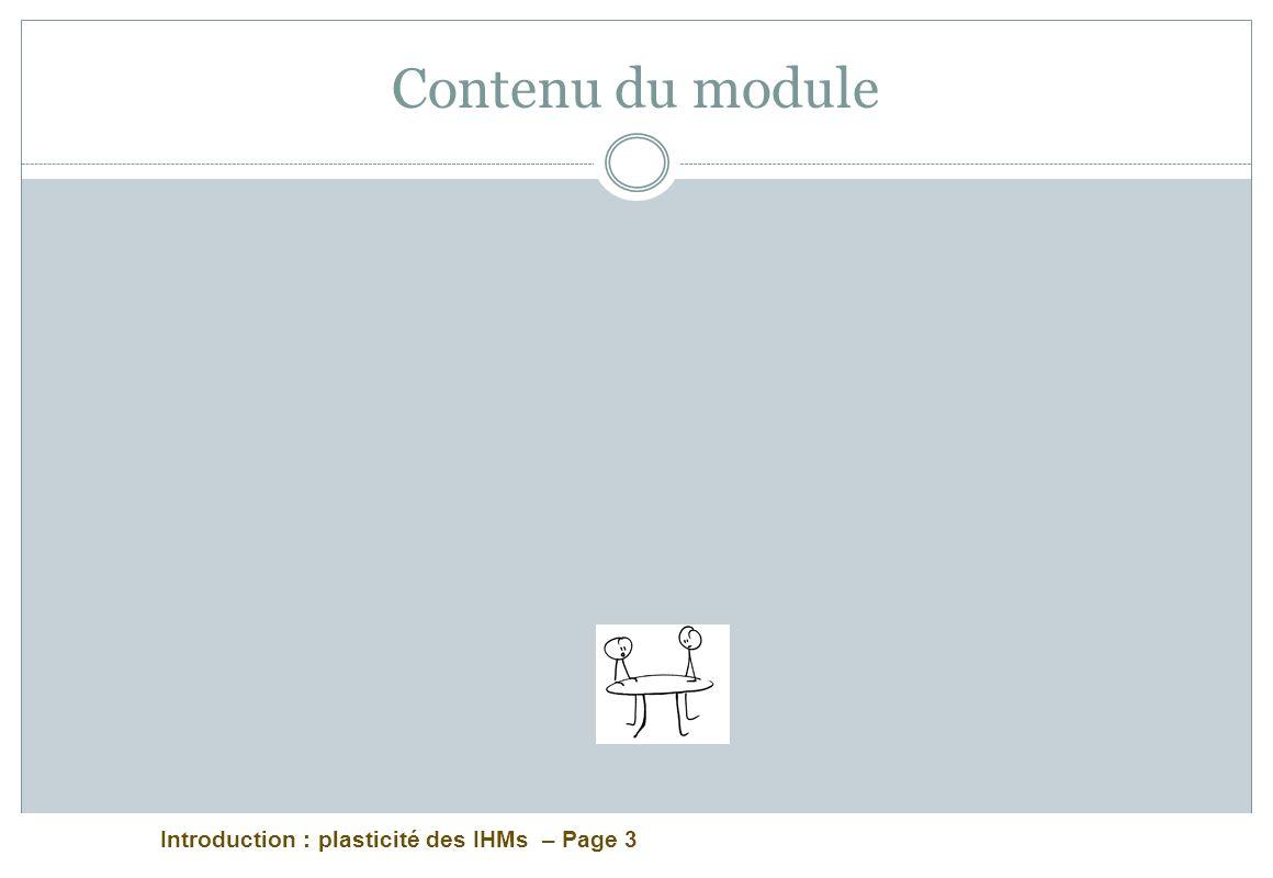 Contenu du module