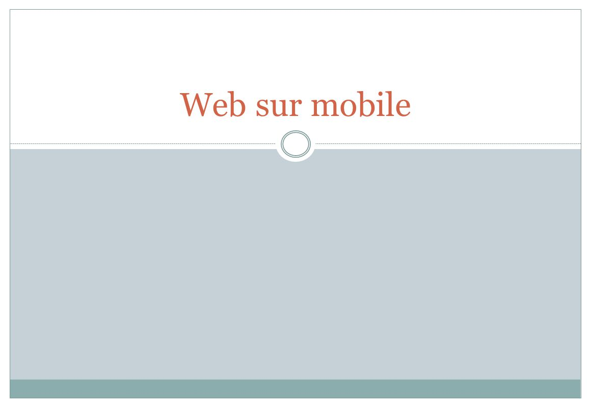 Web sur mobile