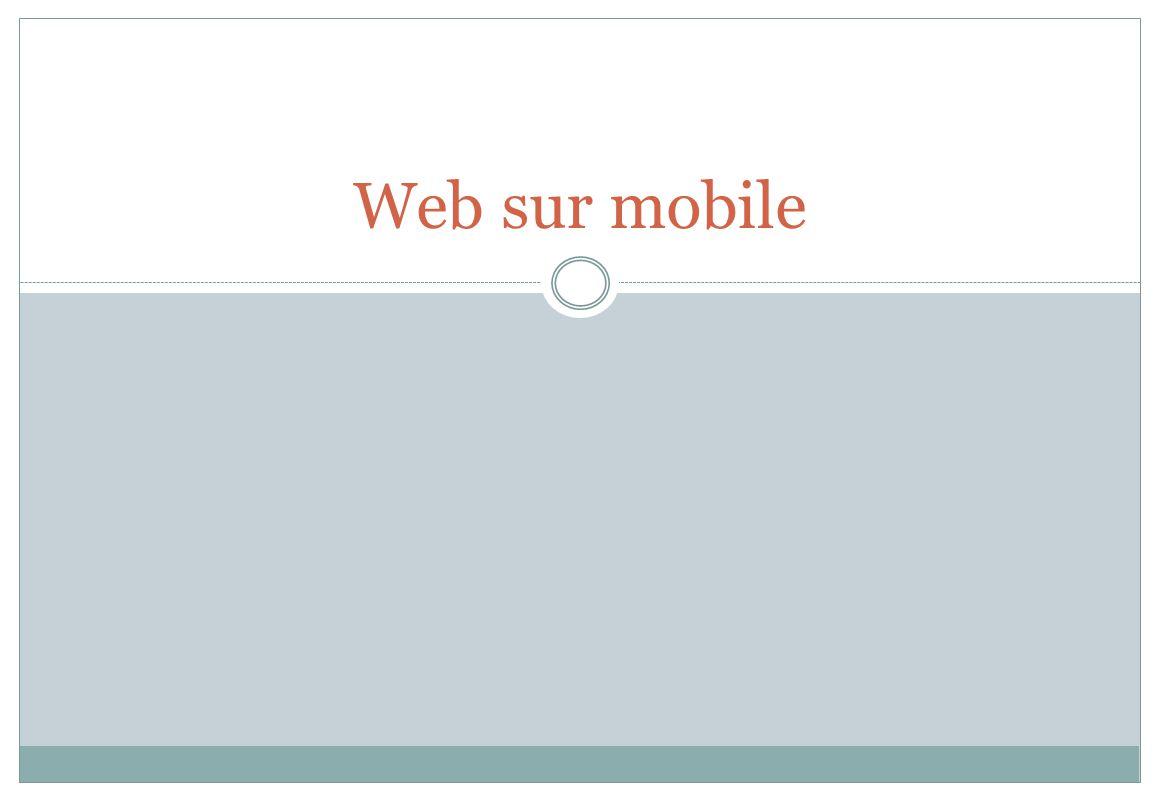 Web sur mobile