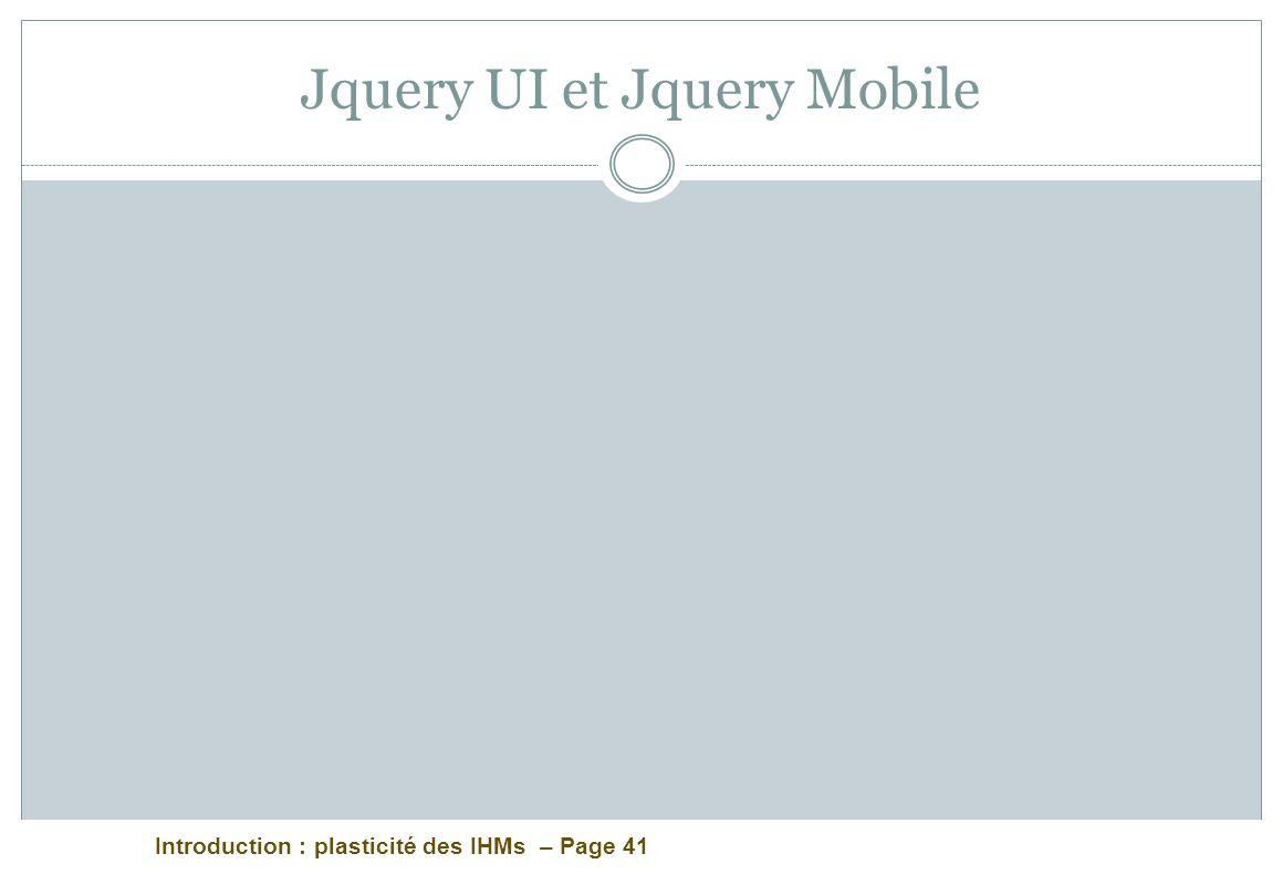 Jquery UI et Jquery Mobile