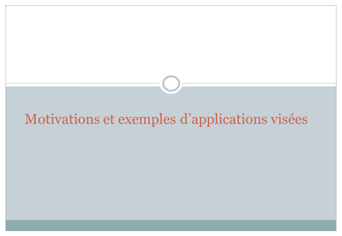 Motivations et exemples d'applications visées
