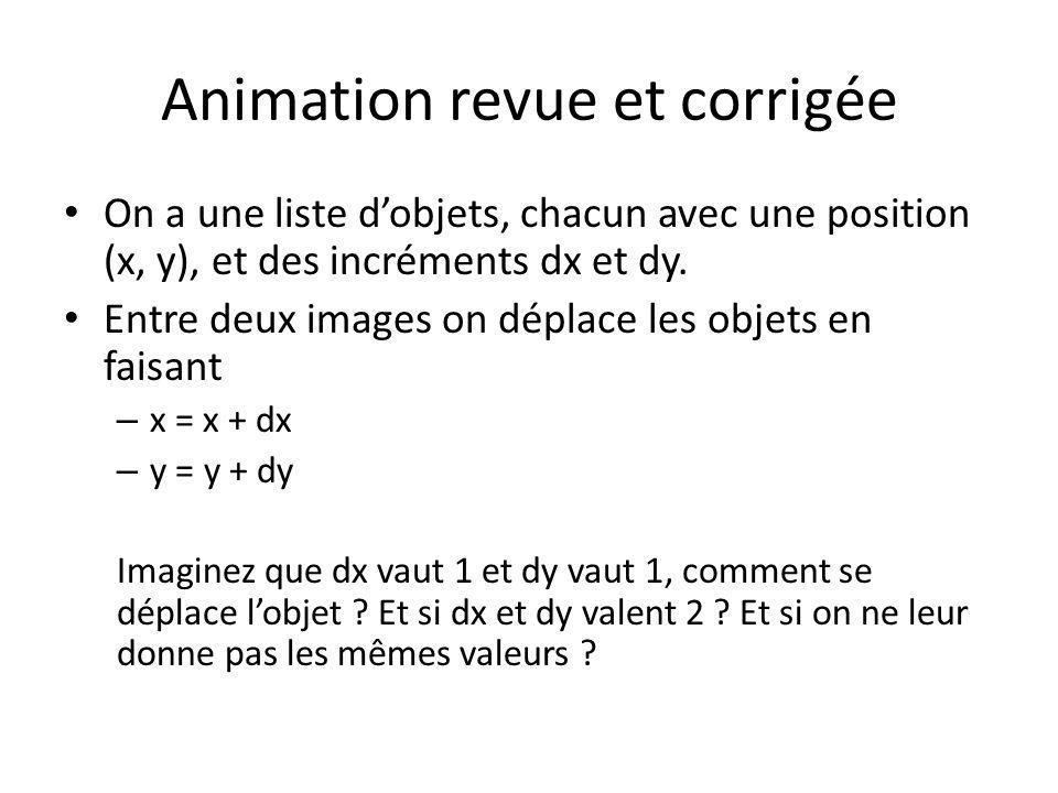 Animation revue et corrigée