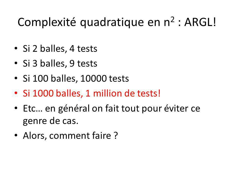 Complexité quadratique en n2 : ARGL!