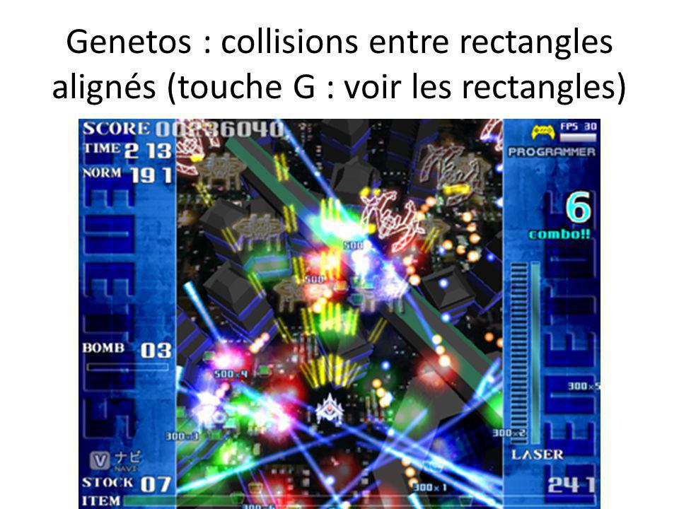 Genetos : collisions entre rectangles alignés (touche G : voir les rectangles)