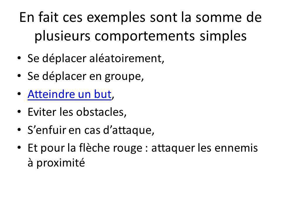 En fait ces exemples sont la somme de plusieurs comportements simples