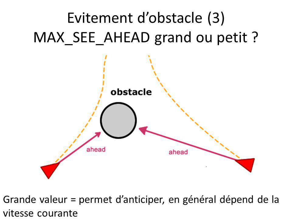 Evitement d'obstacle (3) MAX_SEE_AHEAD grand ou petit
