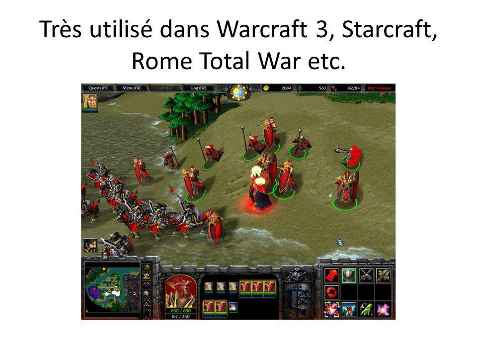 Très utilisé dans Warcraft 3, Starcraft, Rome Total War etc.