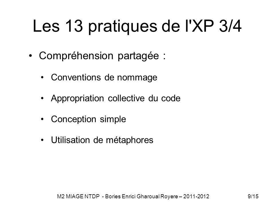 M2 MIAGE NTDP - Bories Enrici Gharoual Royere – 2011-2012