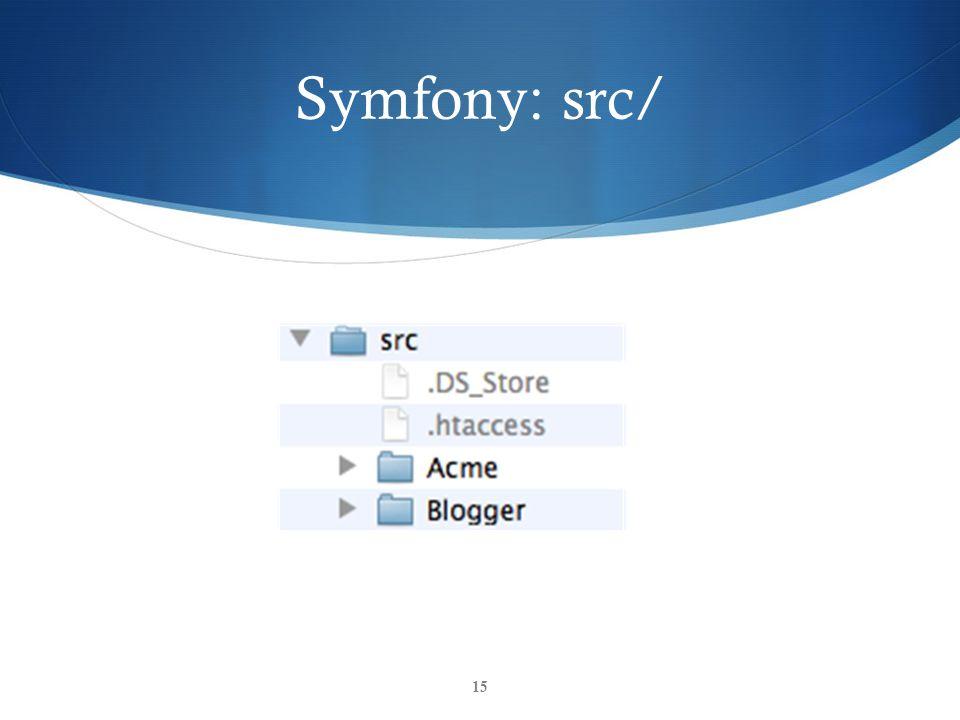 Symfony: src/